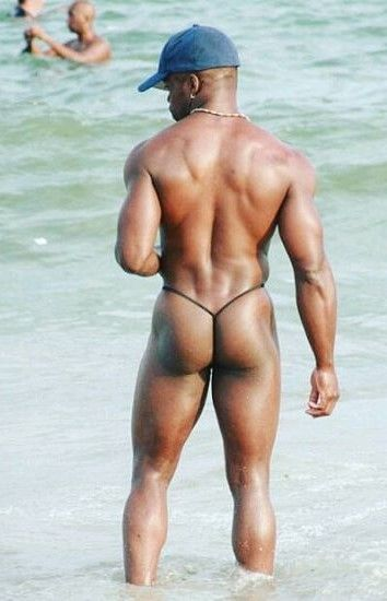 black men nude at beach