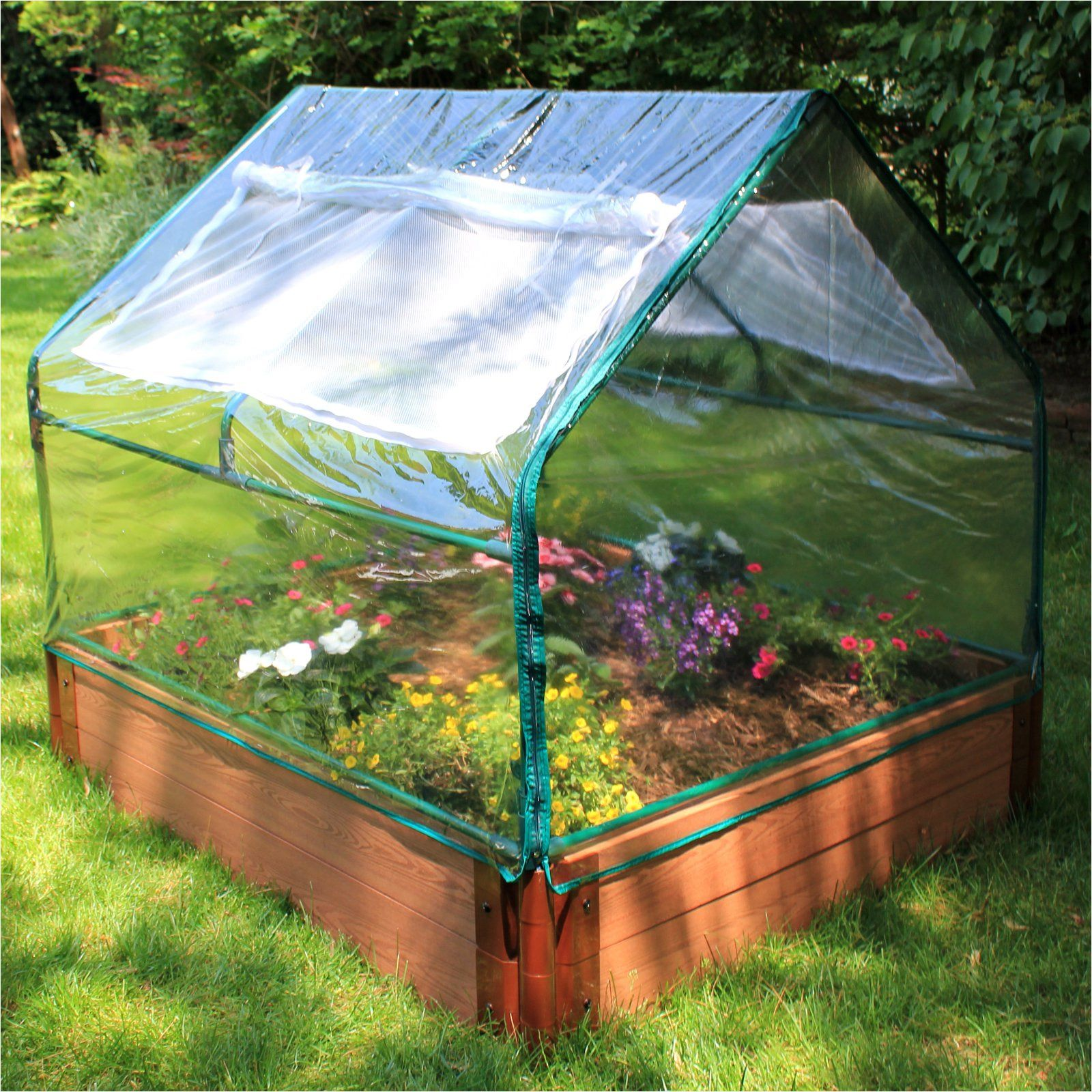 Frame It All Greenhouse Kit and Recycled Resin Raised Best