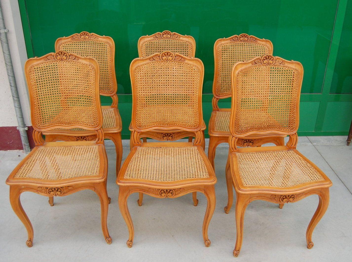 Sedie Francesi Provenzali : 6 sedie provenzali in faggio e paglia di vienna prima meta 900