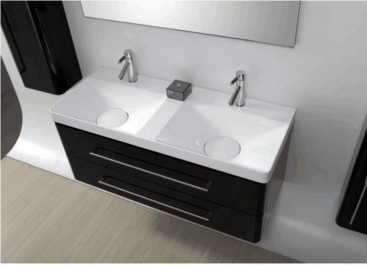 meuble salle de bain noir 2 vasques
