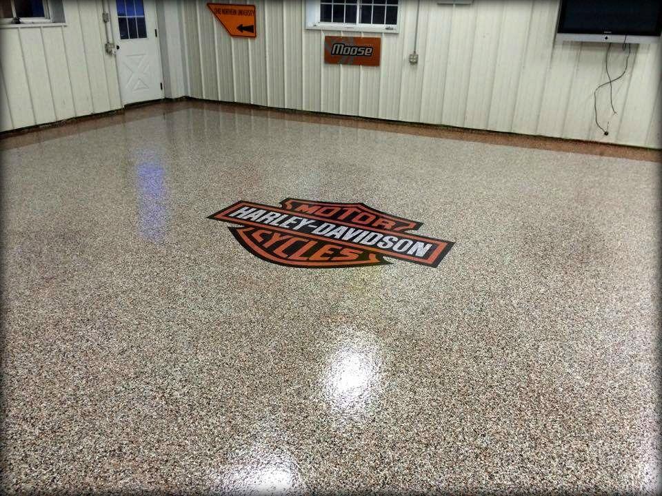 Epoxy Garage Flooring - Winchester VA | Harley Life ! | Pinterest