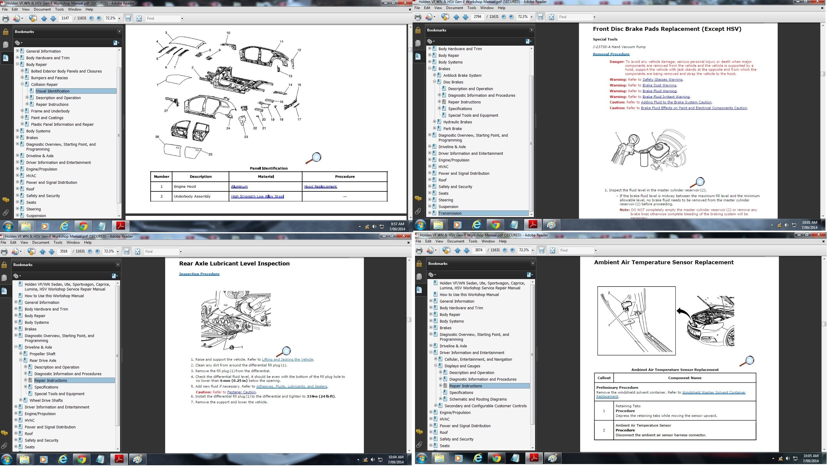 hight resolution of preview pages of holden vf wn sedan ute sportwagon caprice hsv workshop manual