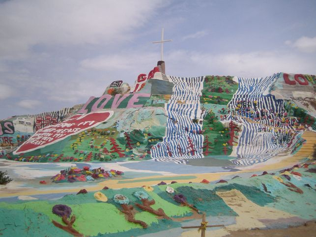 Salvation Mountain And Slab City California Slab City Salvation Mountain City