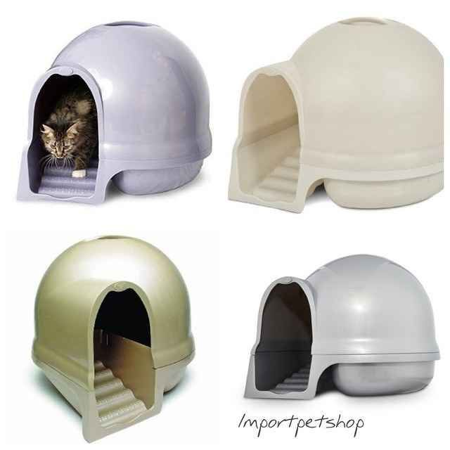 The Booda Dome Cleanstep Cat Box is a palatial litter box situation