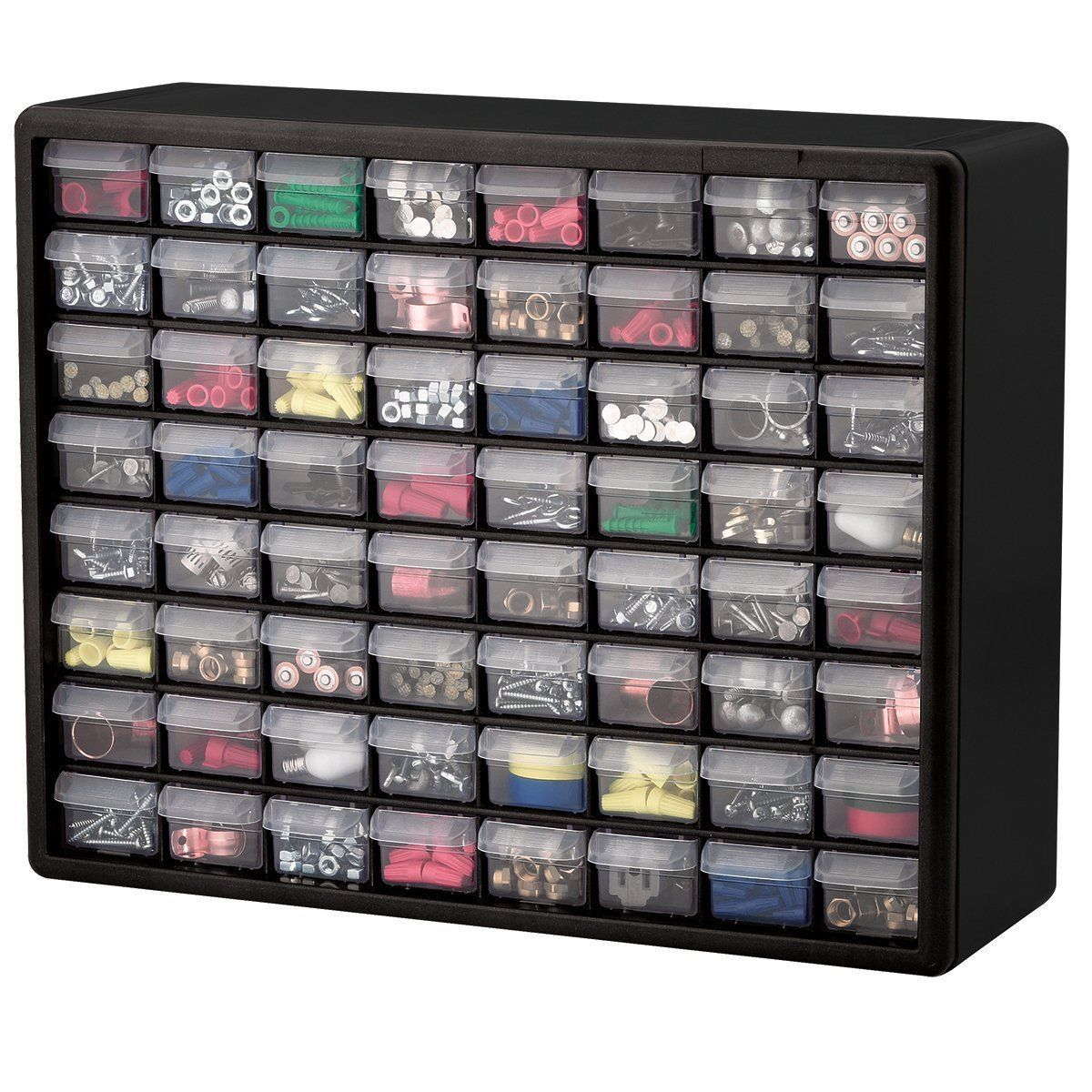 64 Drawer Plastic Parts Hardware Organizer Storage Cabinet Bin  # Muebles Sortimo