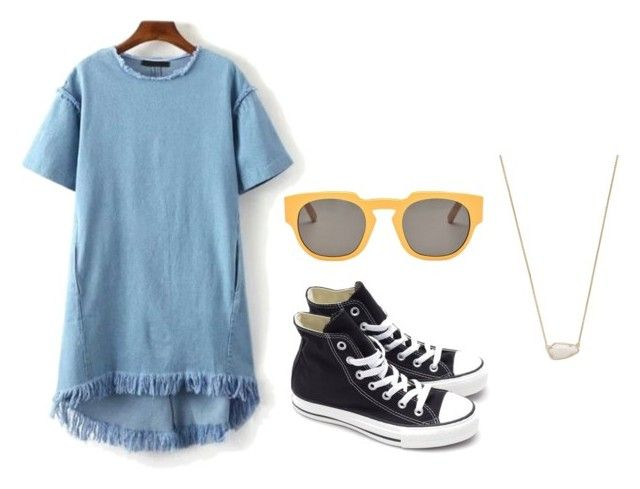 """""""DENIM"""" by angievasquez970 on Polyvore featuring Marni, Converse and Kendra Scott"""