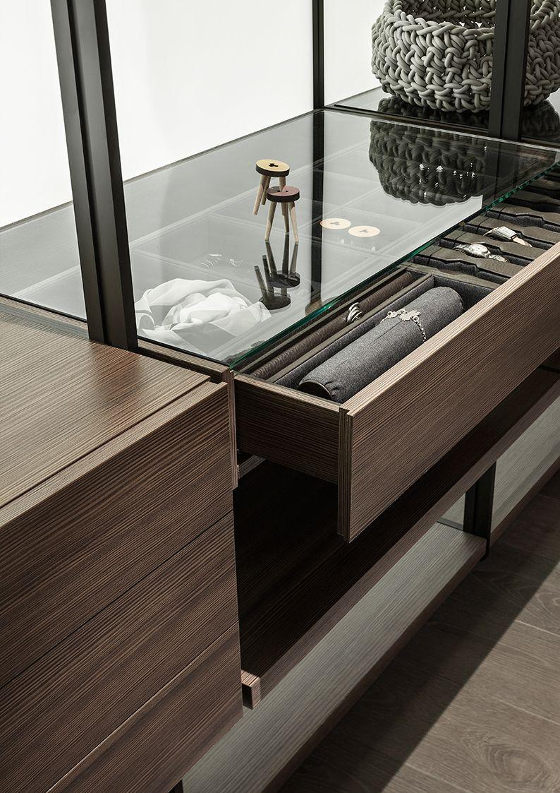 Lema Hangar Walk In Wardrobe With Glass Top Home