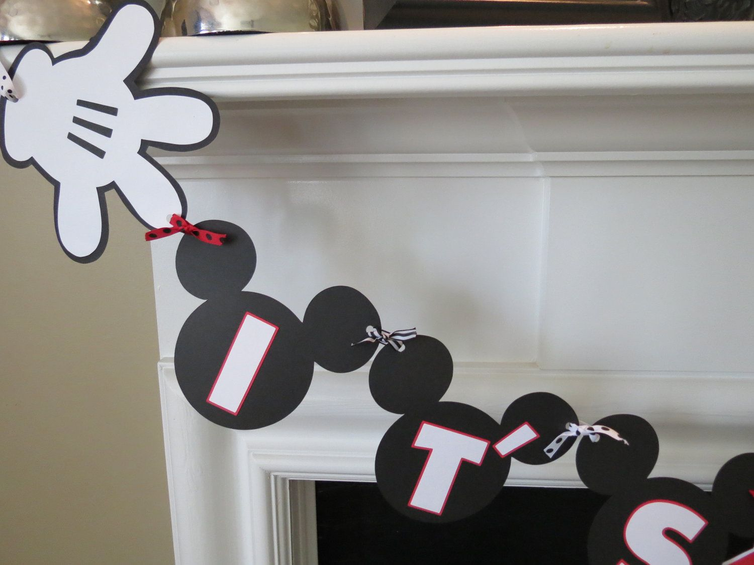 Mickey Mouse Baby Shower Banner For Baby Boy