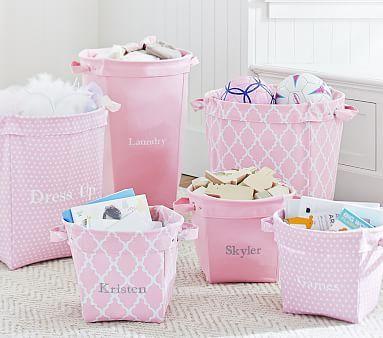 Light Pink Canvas Storage Pbkids Baby Toy Storage Pottery Barn Toy Storage Baby Nursery Storage