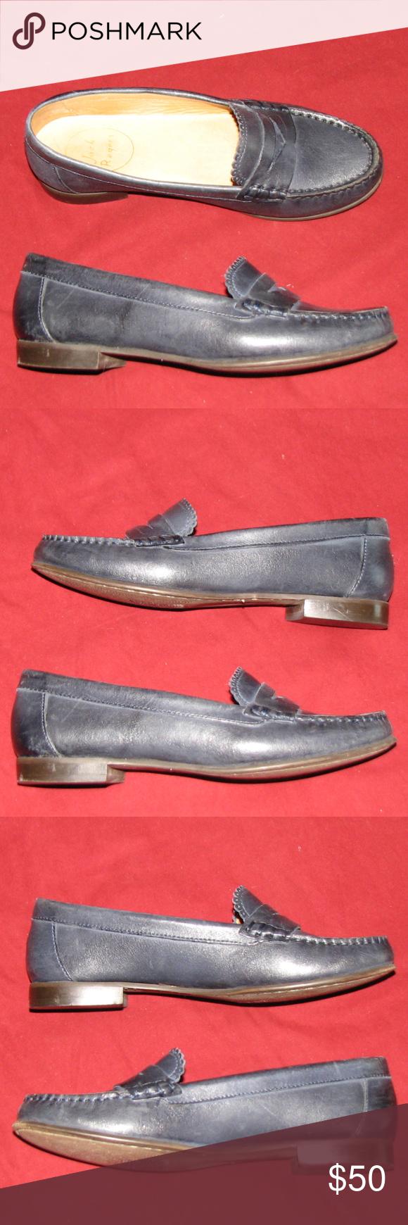 b92841b3dd0 JACK ROGERS Quinn penny loafer midnight blue 6M Jack Rogers penny loafers  with box. Style