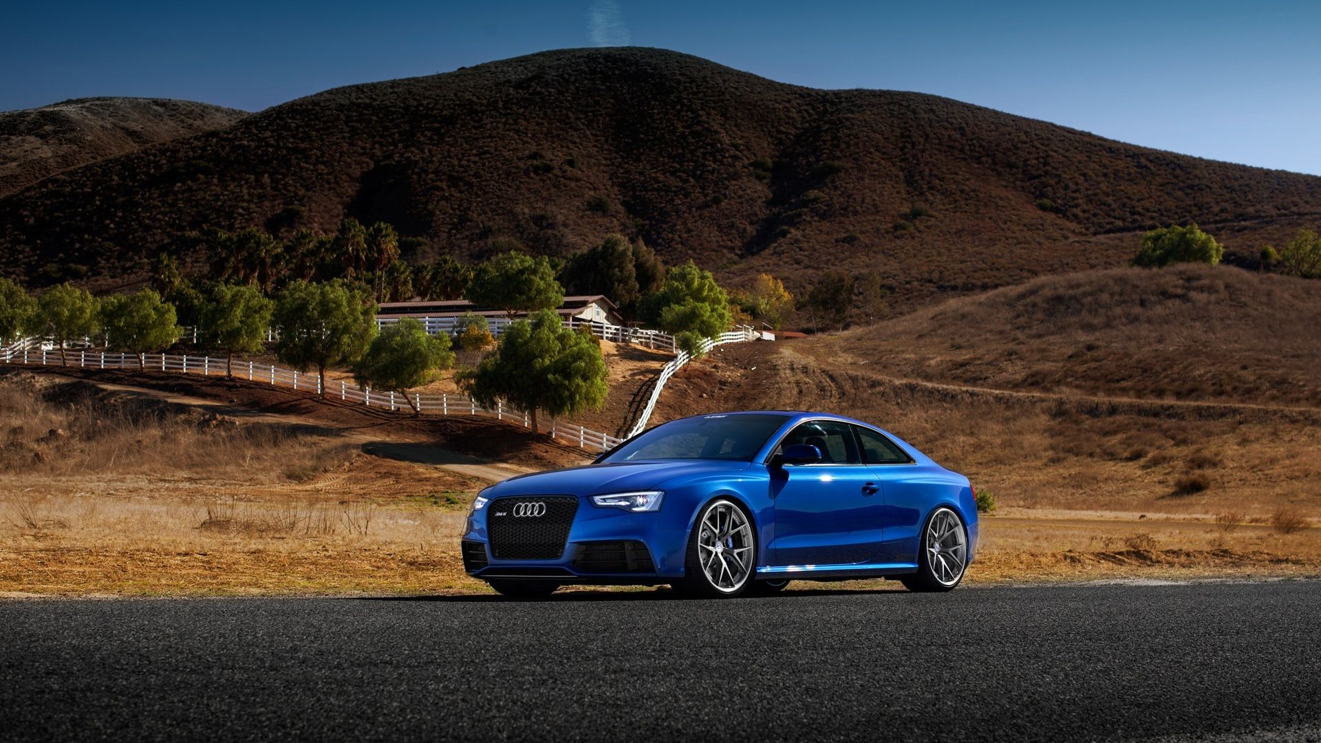 1920x1080 Wallpaper Audi Rs5 Blue Side View Blue Audi Audi Hd Wallpapers Of Cars