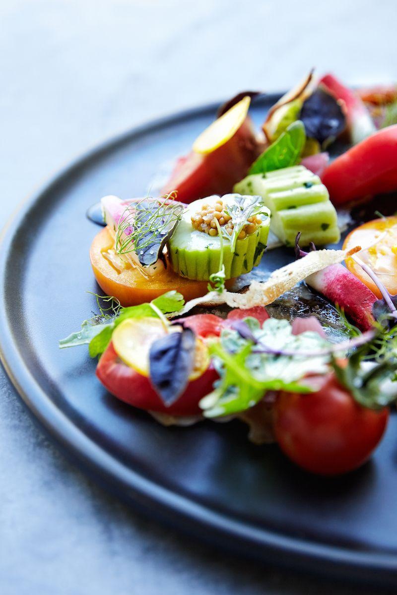 Garden Panzanella Tomato, rolled pork terrine, hand