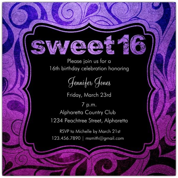 Sweet 16 birthday invitations printable invitations card by sweet 16 birthday invitations printable filmwisefo