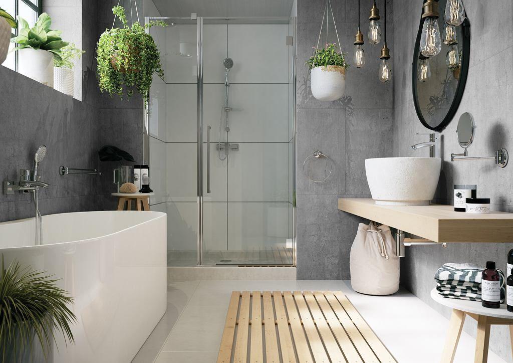 Modna Aranżacja łazienki Z Wanną łazienki Asi W 2019