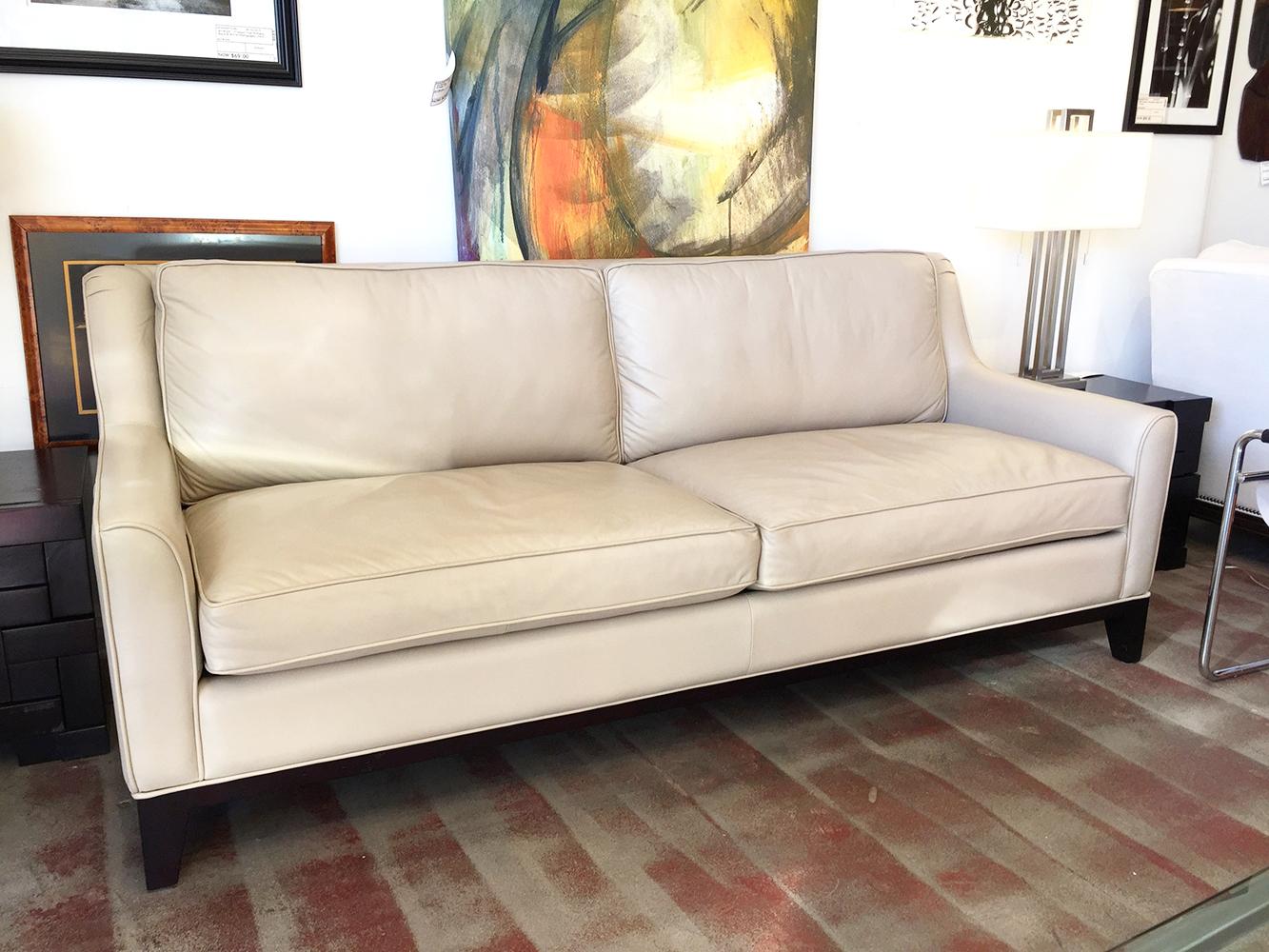 Italian Cream Leather Sofa | Chairish | Dream House | Pinterest