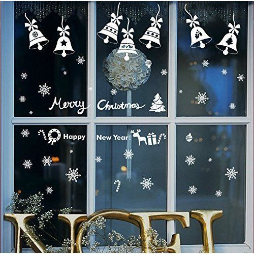 Online Shop High Quality Christmas Wall Sticker Diy Xmas Bell Holiday New Year Decoration Decal Removable Mural Deco Window Vinyl Home