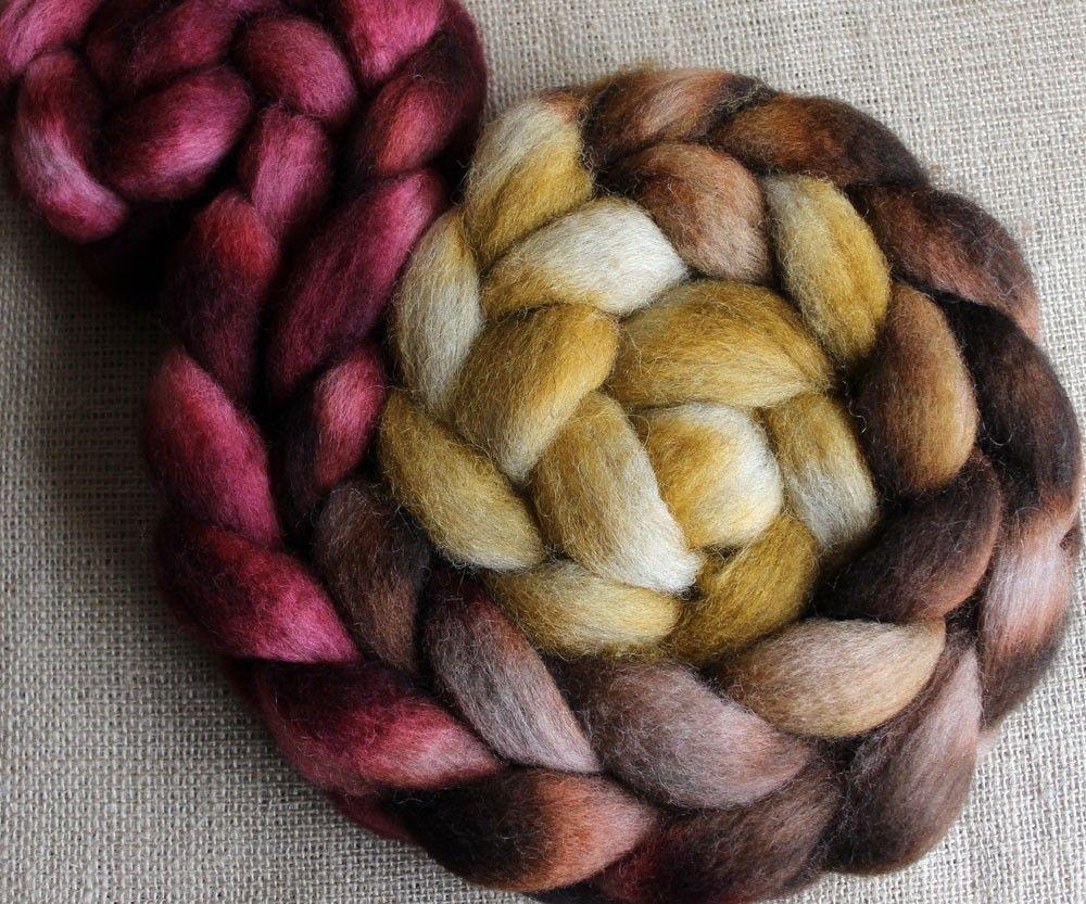 Hobbit - Hand Dyed Roving - Masham Fiber Braid, $16.00
