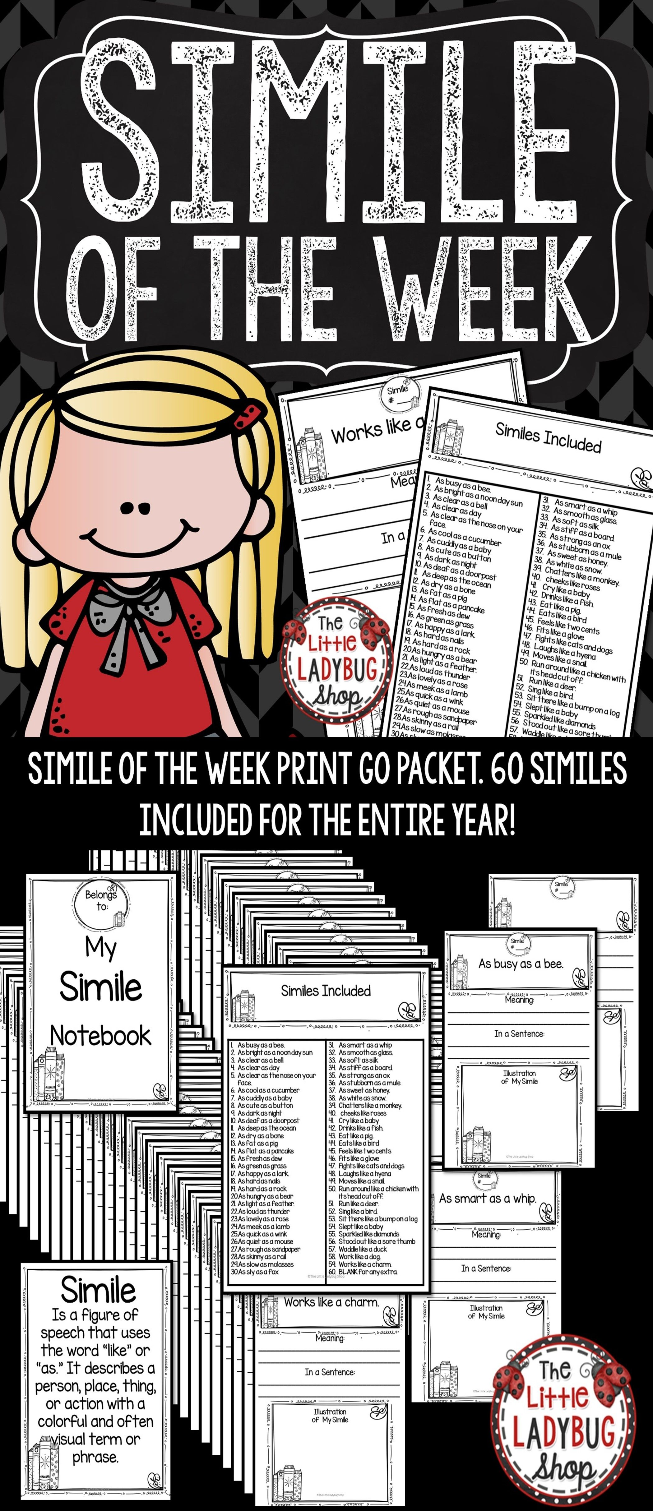Simile Of The Week 3rd Grade 4th Grade Amp 5th