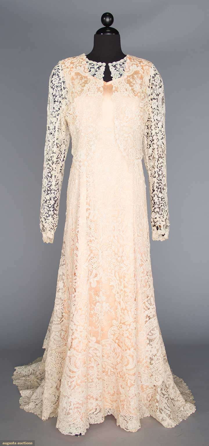 BRUSSELS MIXED LACE DRESS, EARLY 20TH C | Vintage & Antique: Lace ...
