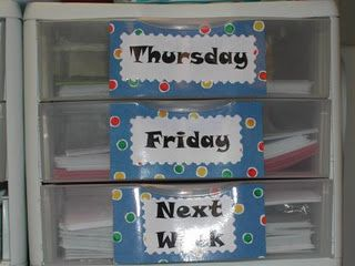 "why haven't i ever thought of having a ""next week"" drawer?"