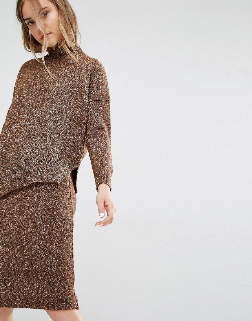 Paisie Asymmetric Sweater In Marl Knit at asos.com 1a4fa70a83e
