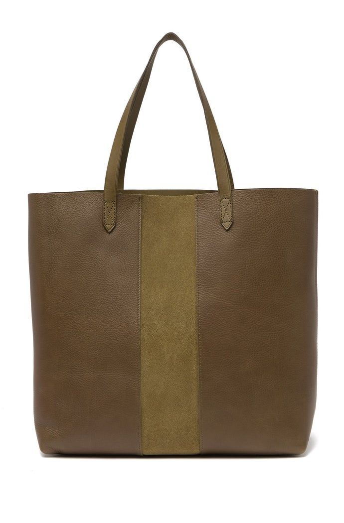 Madewell | Suede Stripe Transport Leather Tote | Nordstrom Rack #nordstromrack