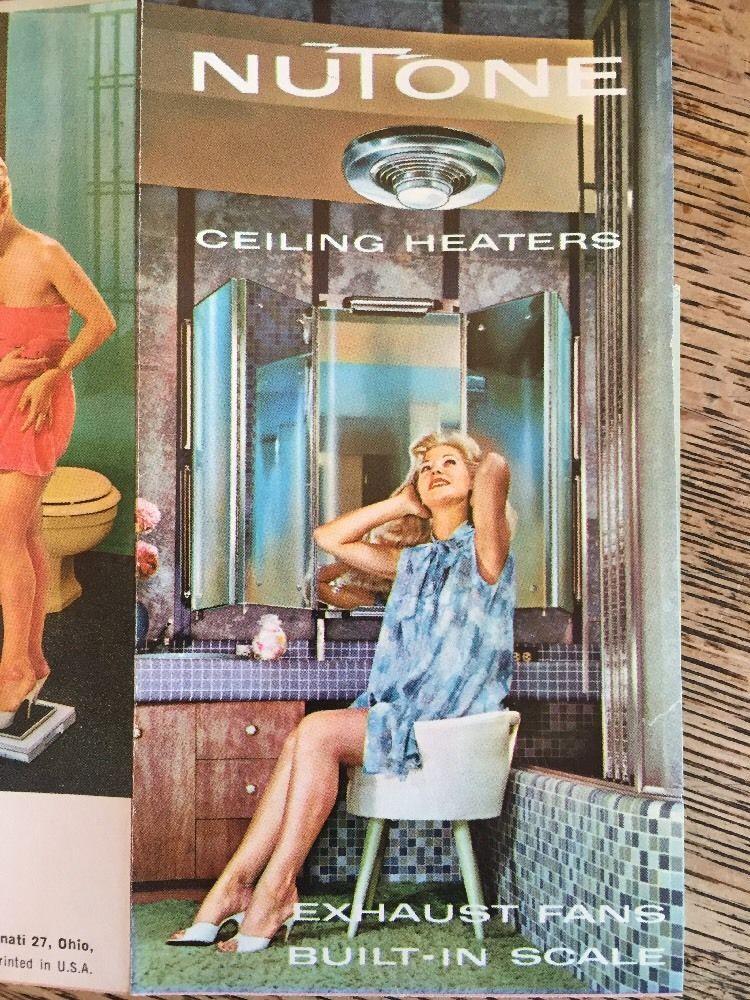 Vintage Nutone Ceiling Heaters Exhaust Fans Built In Scales Mcm Bathroom Fixture Bathroom Fixtures Exhaust Fan Retro Bathrooms
