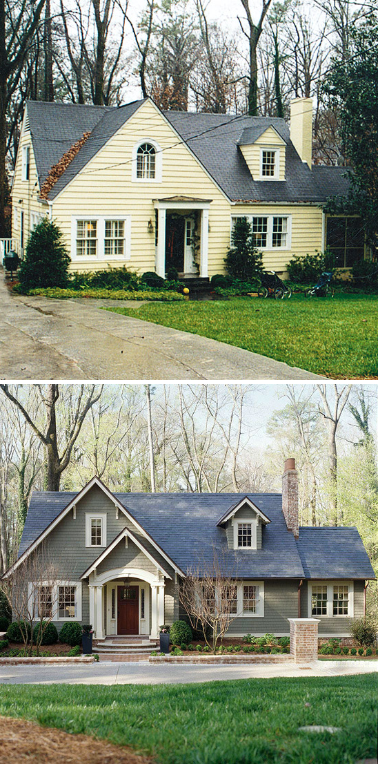 Small House Before And After Great Exterior Renovation