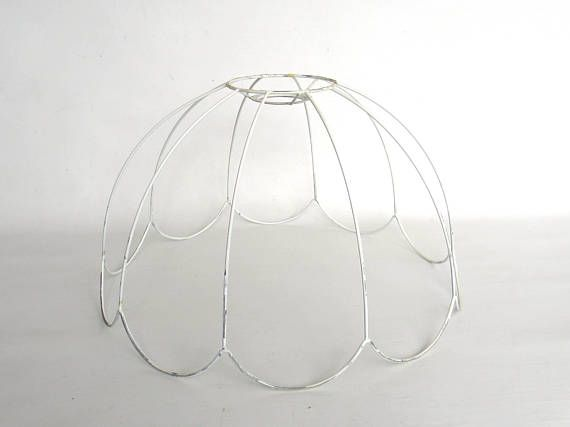 Lampshade frame wire frame authentic vintage lampshade wire frame lampshade frame wire frame authentic vintage lampshade wire keyboard keysfo Images