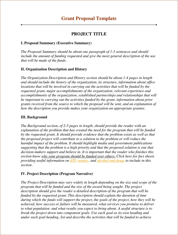 Grant Proposal Template   Foundation Grants    Grant