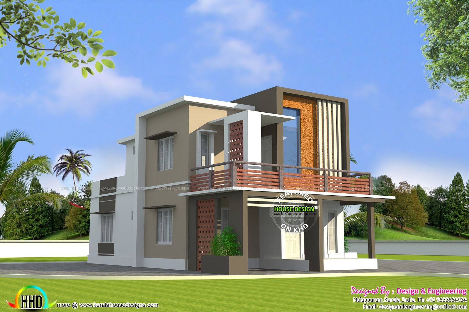 Low cost double floor home plan kerala design and plans for Kerala home designs low cost
