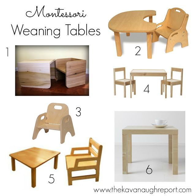 Types Of Montessori Weaning Tables For Babies Montessori