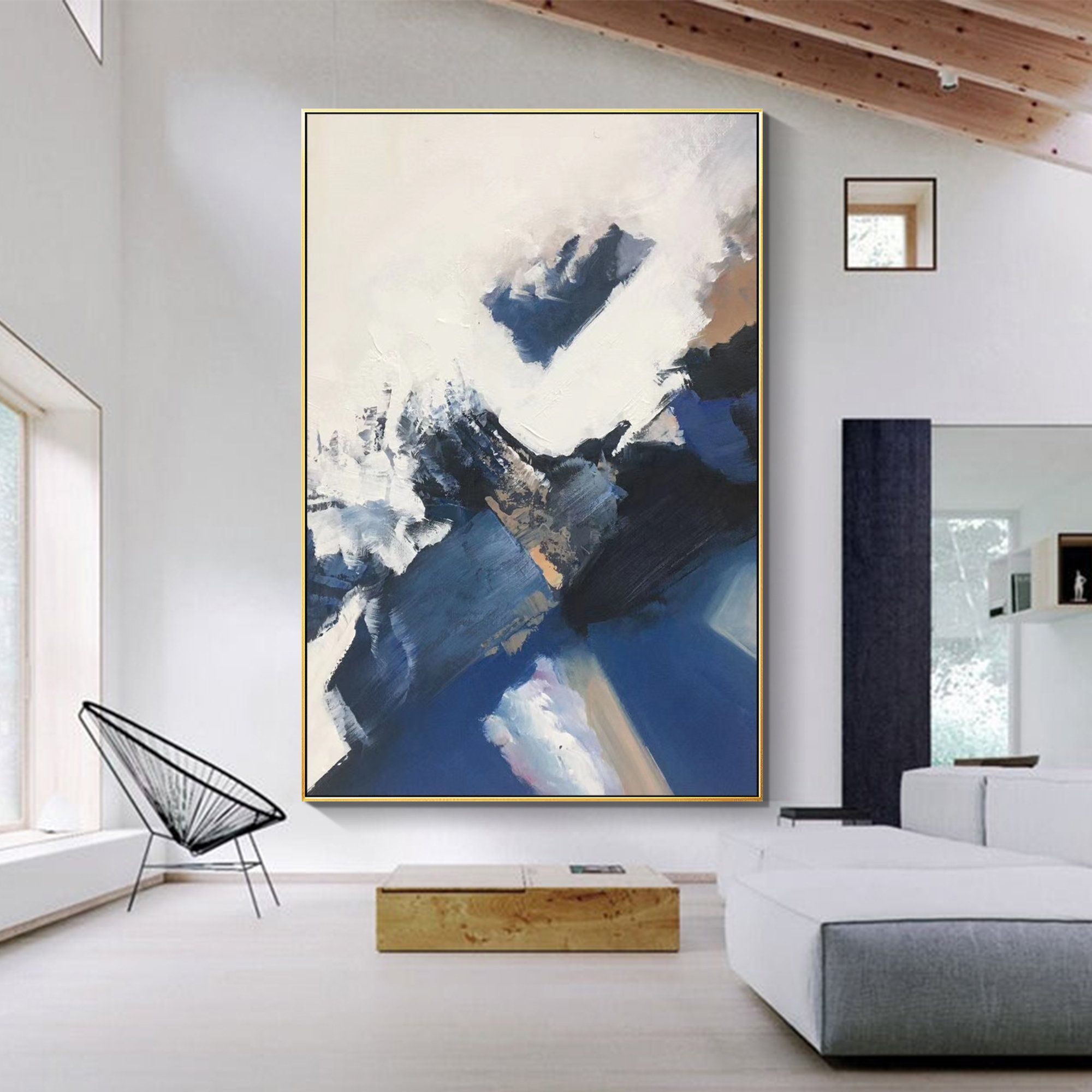 Modern Abstract Art Modern Ocean Art Oversized Painting Etsy In 2020 Large Modern Wall Art Large Abstract Wall Art Modern Art Abstract