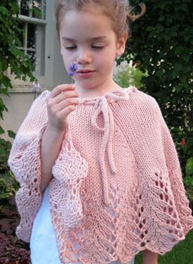 Knitted Poncho Patterns For Children Pixie Child Poncho