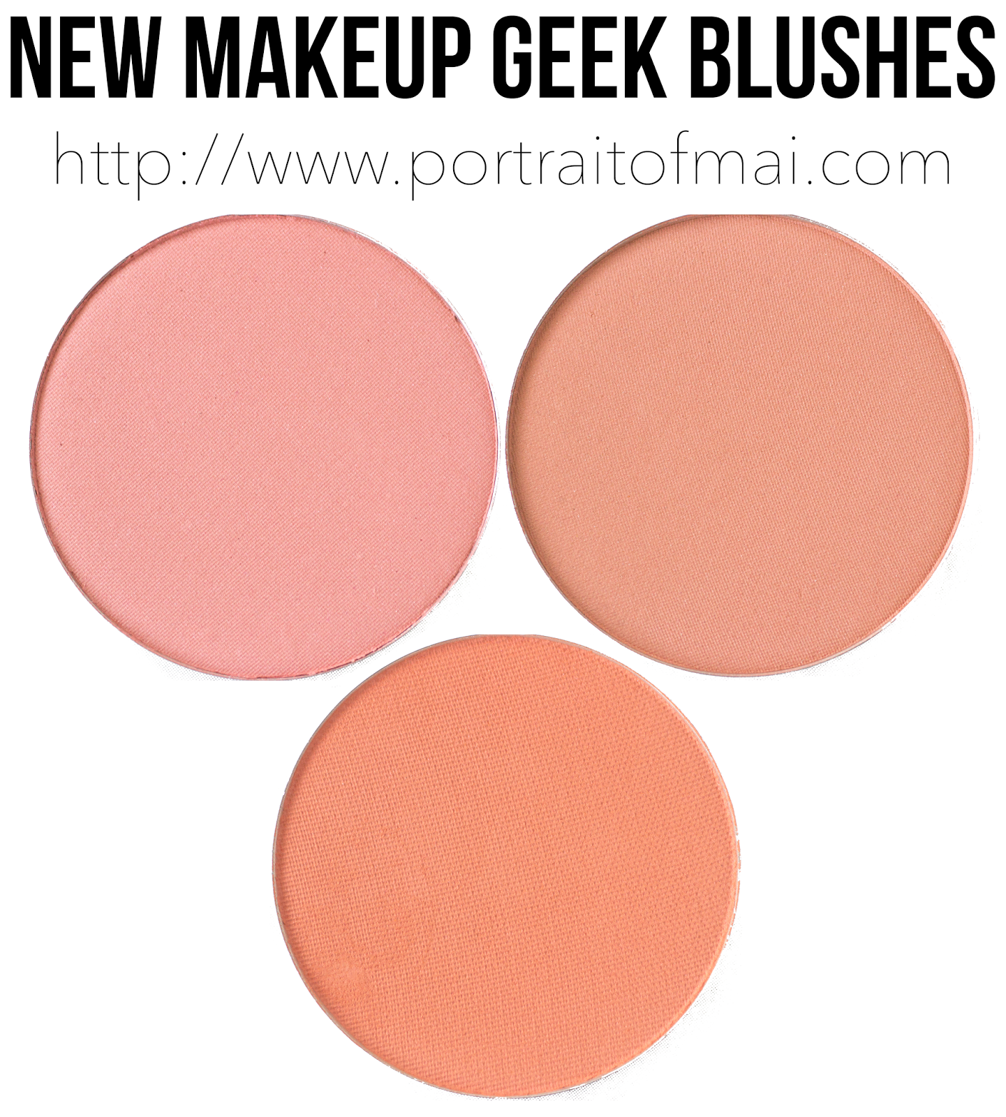 New Makeup Geek Blushes Swatches/Review and Formula