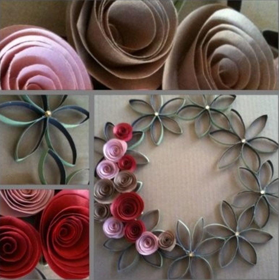 Toilet Paper Roll Flowers All The Best Ideas Wreaths Flower And Craft