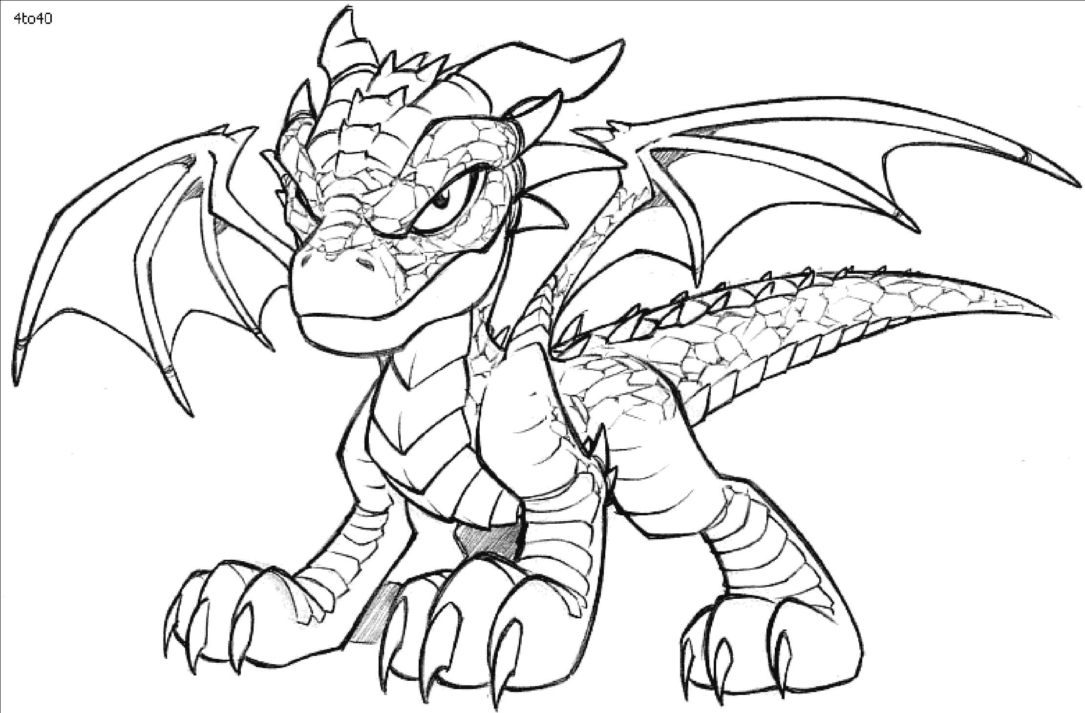 Dragon Colouring Worksheet Images