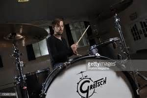 Tom Heron, drummer of Scottish distorted pop band Xcerts, during a ...