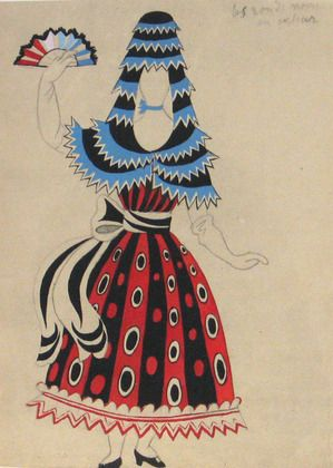 Picasso design for the Ballet Le tricorne.