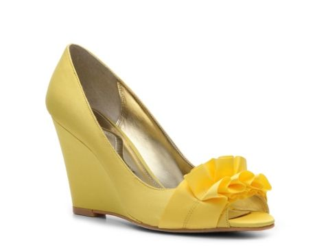 4d8b0650e895 Nina Pultan Wedge Pump - just ordered these in ivory