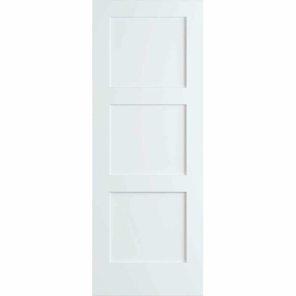 Ebay Sponsored Frameport Shk Pd F3p 8x2 2 3 Shaker 32 Inch By 96 Inch Flat 3 Panel Interior With Images Primed Doors Doors Interior Sliding Mirror Closet Doors