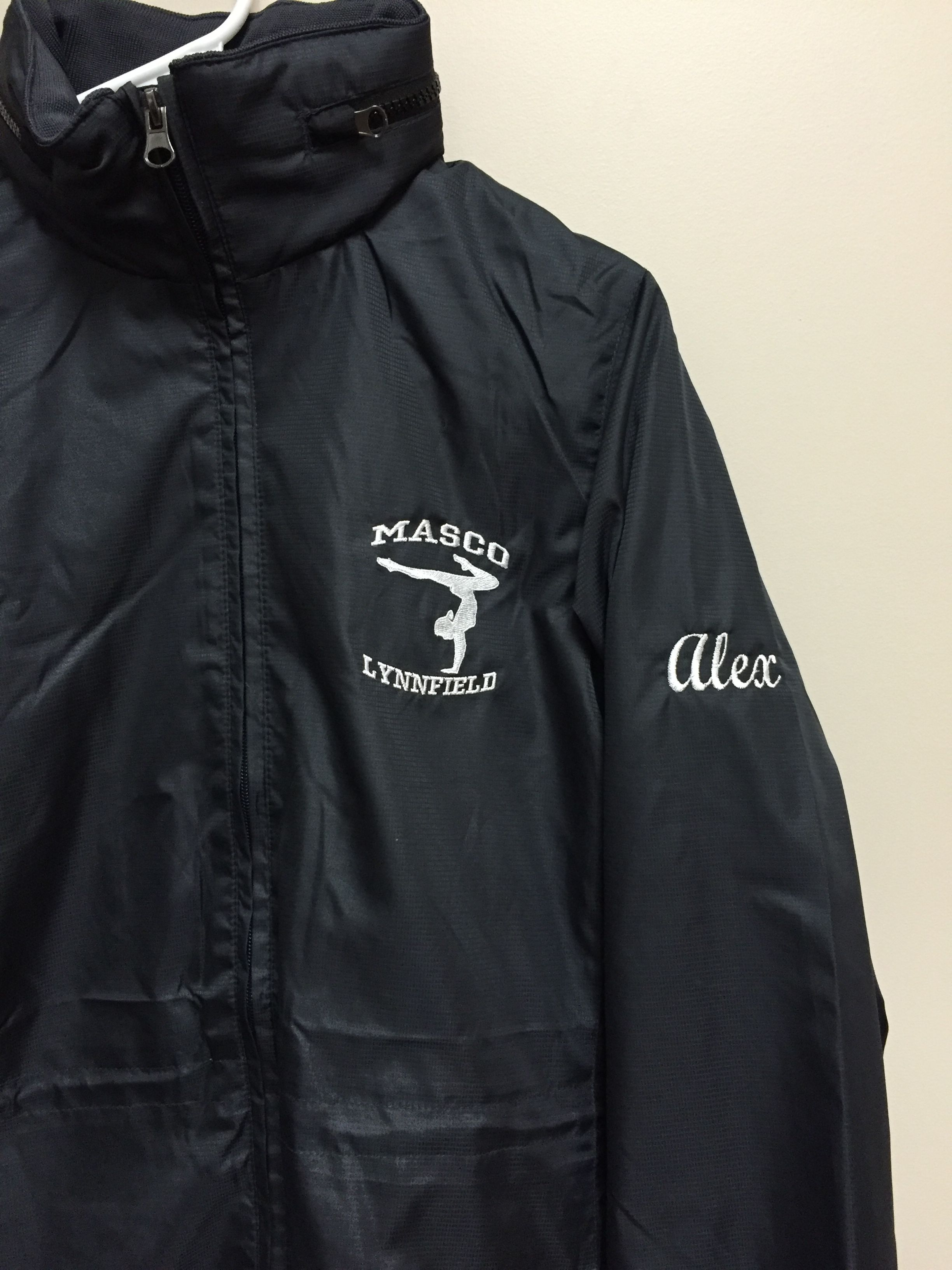 embroidered logo and name on sleeve lynnfield sports pinterest