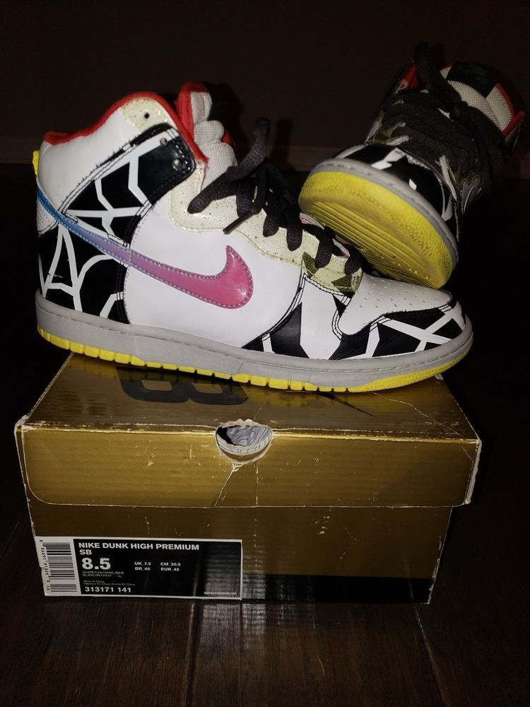 online retailer a9f42 0038e Nike SB Dunk High Premium Thrashin 2008 Size 8.5 White Chlorine Blue 313171- 141  fashion  clothing  shoes  accessories  mensshoes  athleticshoes (ebay  link)