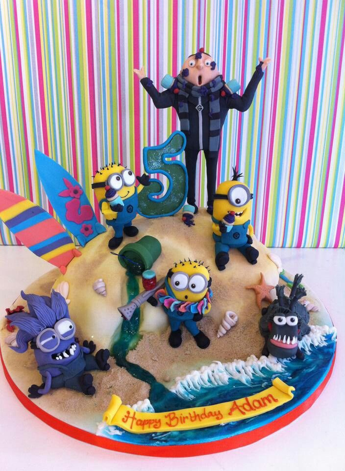Despicable me cake can we just change the 5 to 42?