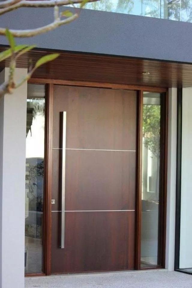 21 Beautiful Front Door Ideas To Make Great First Impressions Frontdoor Stylish Welcome To Blog Main Door Design Door Design Modern Modern Entrance Door
