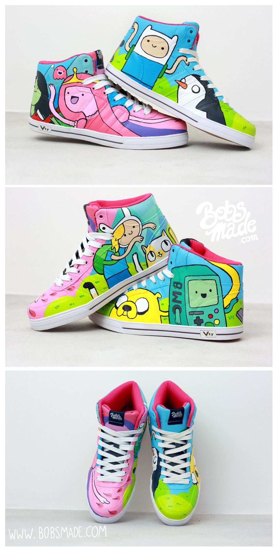 Adventure Time Sneaker by bobsmade.com