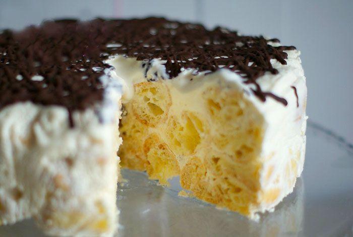 Бесподобный торт  Дамские пальчики картинка-рецепт