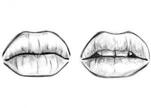Wenn Sie die Lippen zeichnen lernen wollen, dann sind Sie