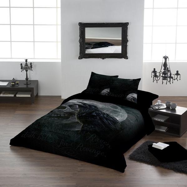 Raven S Curse Double Or King Size Bedding Set Goth Gothic Raven