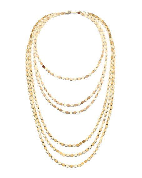 LANA Jewelry Elite Disc 14K Yellow Gold Layering Necklace